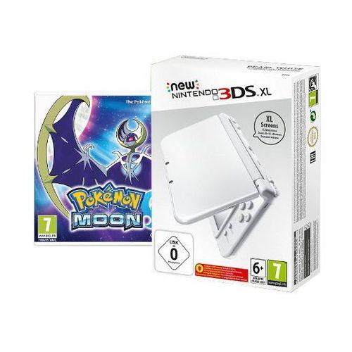 NEW NINTENDO 3DS XL PEARL WHITE +POKEMON MOON