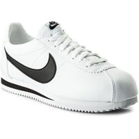 Nike Buty - classic cortez leather 749571 100 white/black