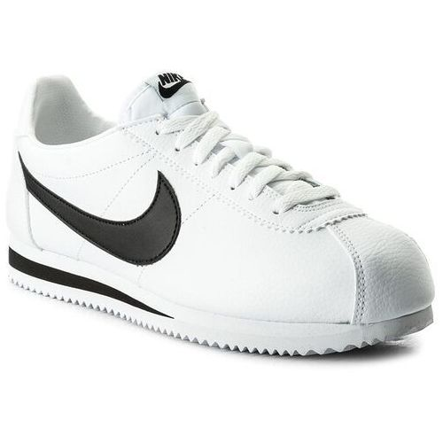 Nike Buty - classic cortez leather 749571 100 white/black