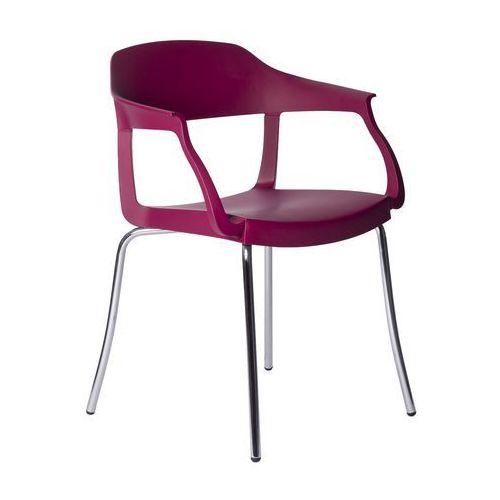 Krzesło Evo Strass P Green fioletowe, kolor fioletowy