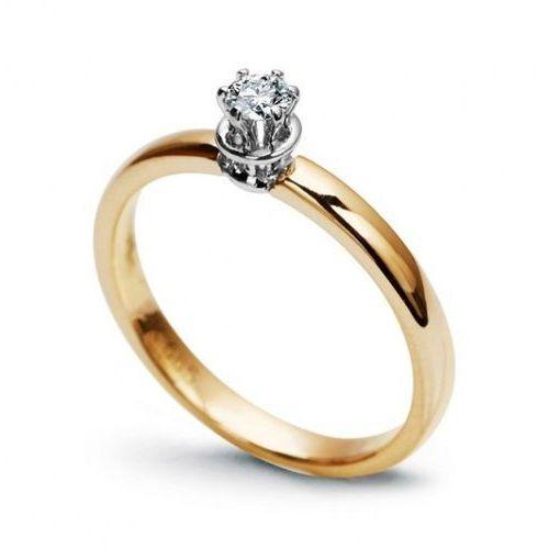 Złoty pierścionek pxd0717 - diament marki Staviori
