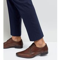 wide fit smart brogues in brown leather - brown, Silver street