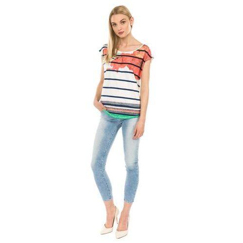 Desigual T-shirt damski Macarena XS wielokolorowy
