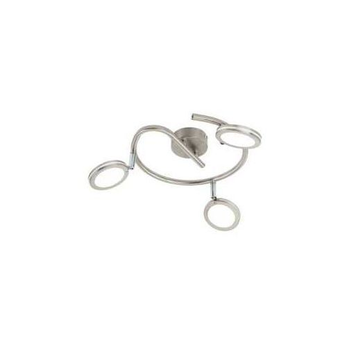 Eglo Spirala karystos 97069 lampa oprawa sufitowa spot 3x4w led nikiel mat / biała