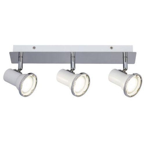 Rabalux Plafon steve 5499 lampa sufitowa łazienkowa 3x15w gu10 led ip44 biały / chrom