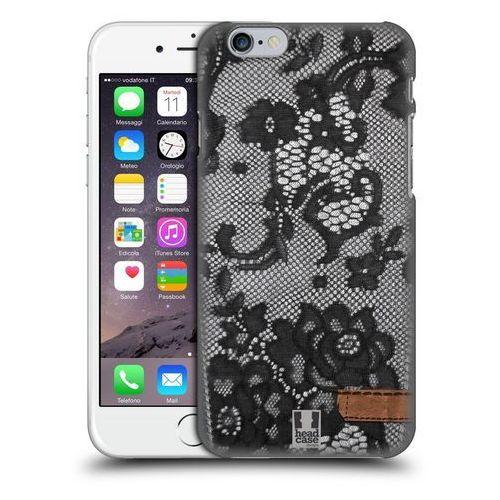 Etui plastikowe na telefon - Jeans and Laces BLACK LACE OVER BLACK DENIM