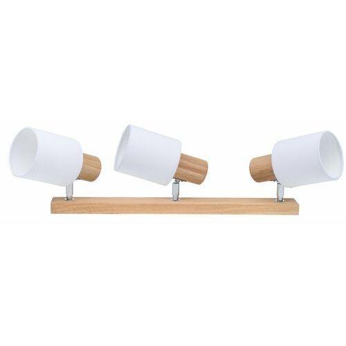 Spot-light Listwa reflektorowa treehous biała z drewnem e27