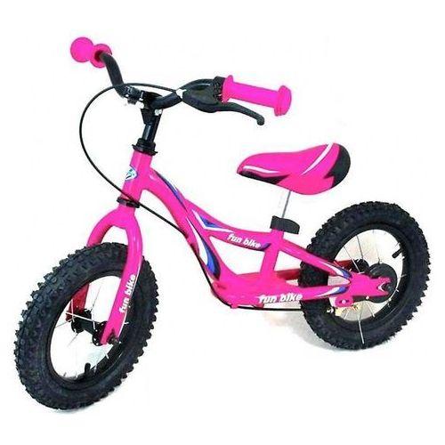 Rowerek biegowy WB-006 różowy, pompowane koła - Różowy (5904378868239)
