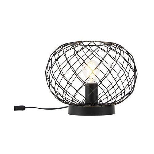 Lampa stołowa w stylu art deco czarna - Helian