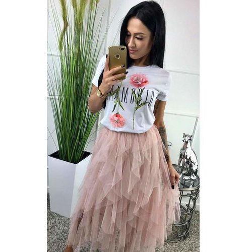 Tiulowa spódnica - Pudrowy róż