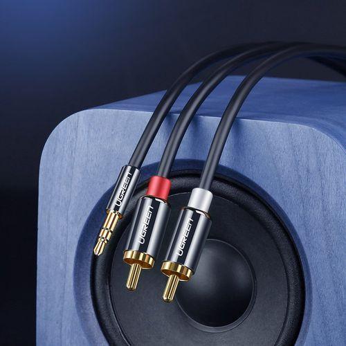 Ugreen Przewody kabel audio 10590 jack 3,5 mm 2x cinch 2m kolor czarny- natychmiastowa wysyłka, ponad 4000 punktów odbioru! (6957303815906)