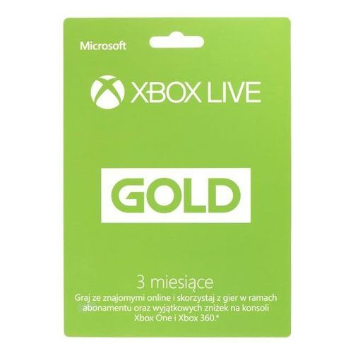 Abonament XBOX Live GOLD 3 do XBOX 360 / ONE 885370928778 - Natychmiastowa wysyłka kurierska!