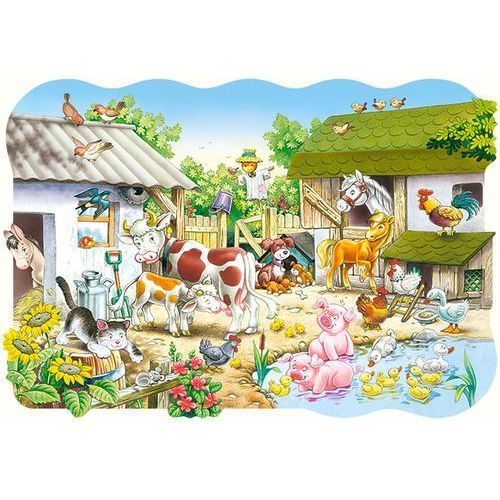 Castor Puzzle maxi konturowe: farm 20: c-02214 (5904438002214)