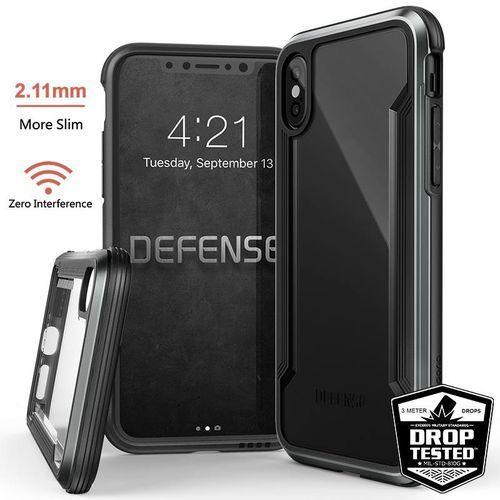 X-Doria Defense Shield - Etui aluminiowe iPhone X (Black), kolor czarny