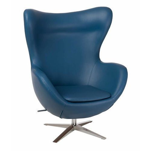 D2.design Fotel jajo soft skóra ekologiczna 518 - niebieski (5902385722353)