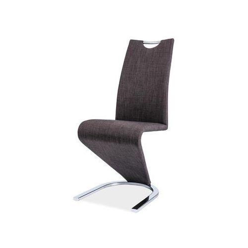 Krzesło metalowe  h-090 - ciemnoszary materiał + chrom marki Signal