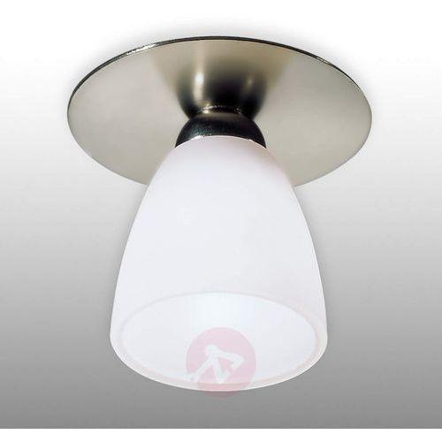 Lampa wpuszczana ARTE nikiel sat. z białym kloszem