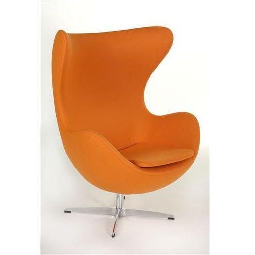 Fotel jajo pomarańczowy kaszmir 11 premium marki D2.design