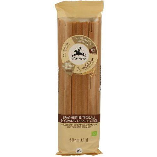 Alce nero (włoskie produkty) Makaron (semolinowy z ciecierzycą) fusili bio 500 g - alce nero (8009004812901)