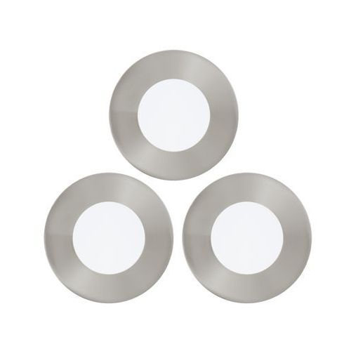 Eglo Oczko lampa sufitowa fueva 1 94734 podtynkowa oprawa ścienna led 3w okrągły wpust komplet 3 szt. nikiel satynowany (9002759947347)