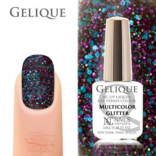 Nails Company GELIQUE MULTICOLOR GLITTER 6ML - Żel hybrydowy, 40561