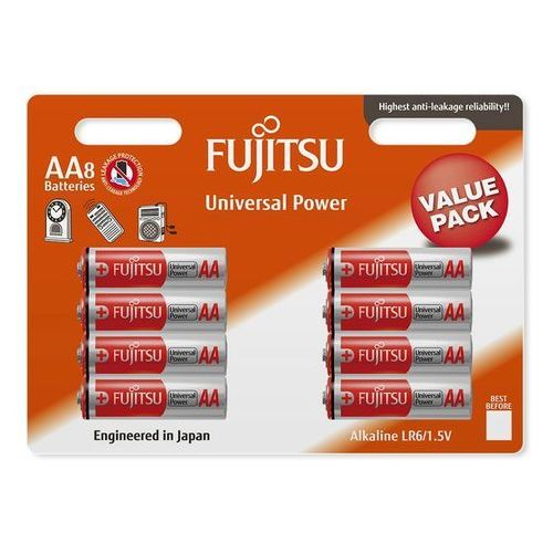 Fujitsu 8 x bateria alkaliczna universal power lr6 aa blister