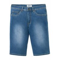 "Miękkie bermudy dżinsowe ze stretchem Regular Fit bonprix niebieski ""bleached, kolor niebieski"