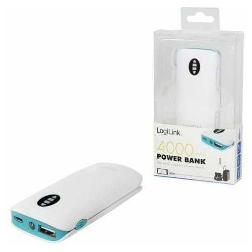 Logilink Power bank  pa0126g 4.000 mah, biały / zielony
