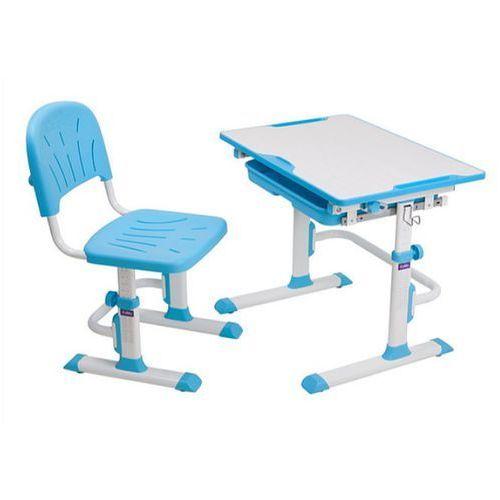 Fundesk Lupin cubby blue - ergonomiczne, regulowane biurko dziecięce z krzesełkiem - złap rabat: kod30