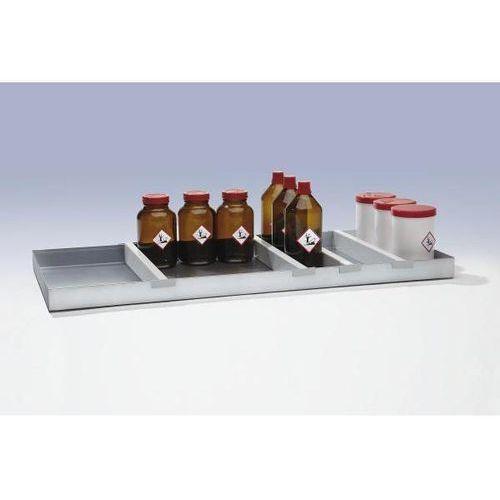 Mba-system sp. z.o.o. Przegroda wanny / półek, do szafy na chemikalia, opak. 4 szt. wprowadza porządek