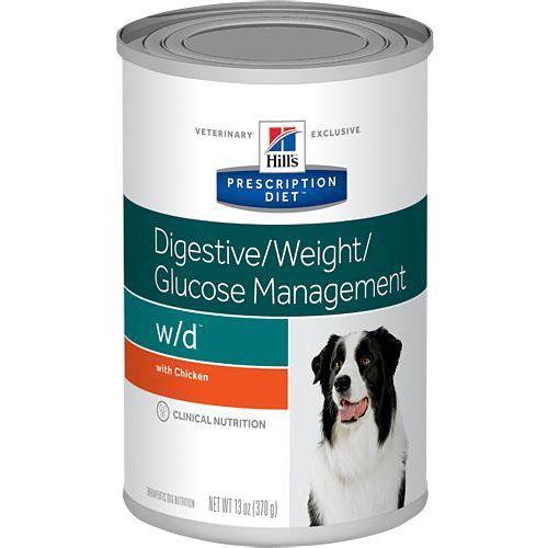 Hills prescription diet Hill's pd prescription diet canine w/d 6x370g - puszka