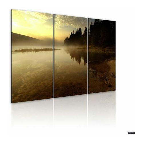 SELSEY Obraz - Wieczorem nad brzegiem jeziora 120x80 cm (5902622539119)