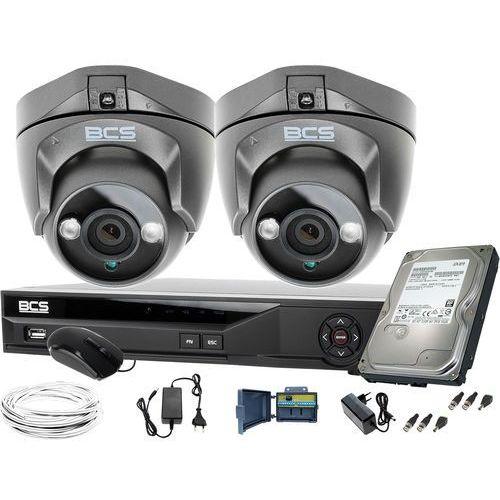 Zm11947 zestaw monitoringu kamery 2szt. bcs-dmqe1500ir3-g bcs-xvr04014ke-ii 1tb marki Bcs