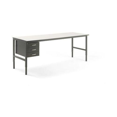 Stół roboczy cargo, 2400x750 mm, 3 szuflady marki Aj produkty