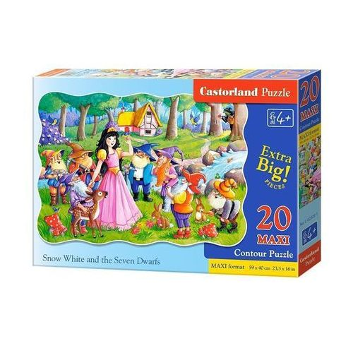 Puzzle Maxi Konturowe Snow White AND the Seven Dwarfs 20 (5904438002320)