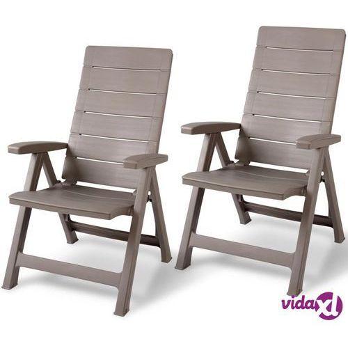 "Allibert Krzesła ogrodowe ""Brasilia"" regulowane oparcia, 2szt. (8711245140551)"