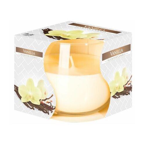 , świeca zapachowa w szkle, wanilia, 1 sztuka marki Bispol