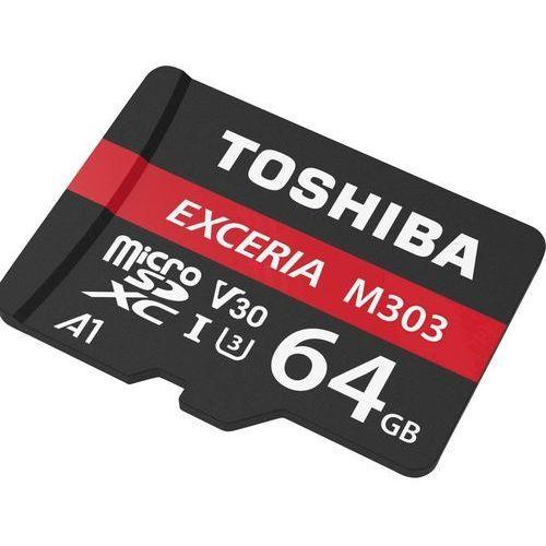 Toshiba microSD 64GB M303 UHSI U3 adapter