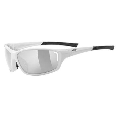 Okulary UVEX Sportstyle 210 biały-czarny / Kolor soczewek: srebrne / Rodzaj szkieł: standardowe (4043197220086)