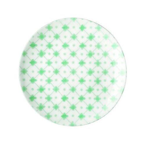 Guzzini - tiffany - talerz deserowy le maioliche, zielony (8008392295211)
