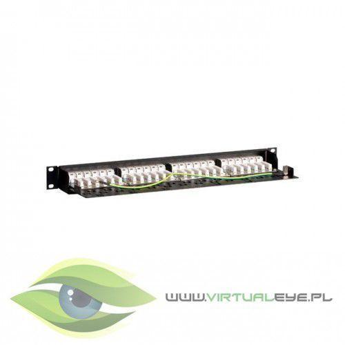 "Linkbasic patch panel 19""/1u, utp, kat. 6, 24 porty, półka organizujca kable"