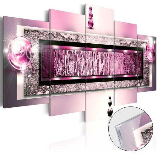 Obraz na szkle akrylowym - Cyklamenowy sen [Glass] bogata chata, A0-Acrylglasbild215
