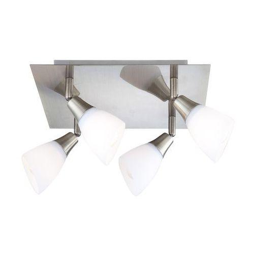 Plafon oprawa lampa sufitowa Globo Frank 4x40W E14 platyna, biały 5451-4, 5451-4