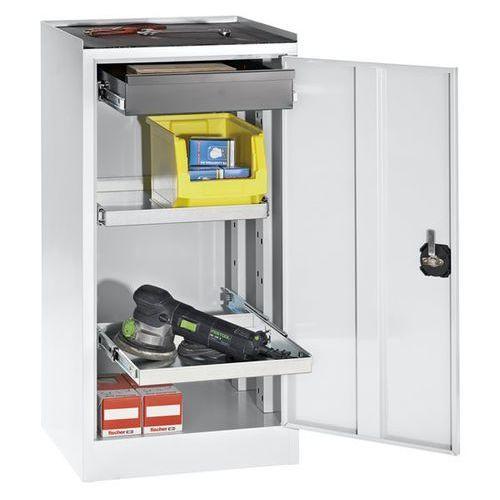 Szafy na narzędzia i szafy dostawne, 1 szuflada, 2 półki, drzwi jasnoszare. Do m