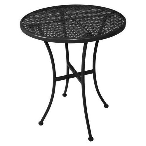 Stolik ogrodowy czarny | 60x60x(H)71cm
