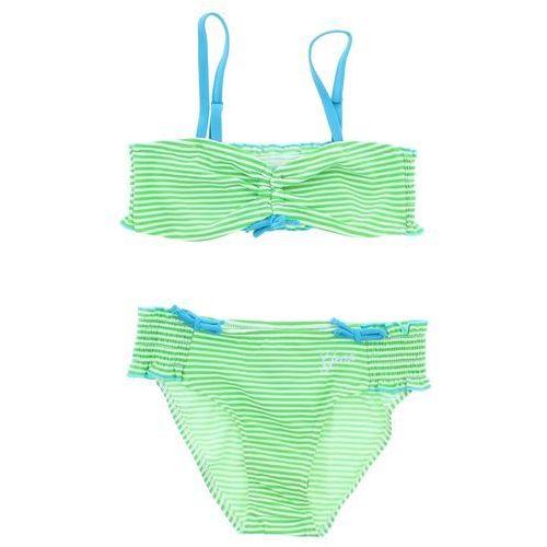 kostium kąpielowy dziecięcy dwuczęściowy zielony biały 5 lat marki Geox