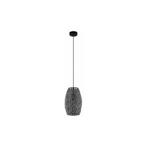 Eglo riyadh 43391 lampa wisząca zwis 1x40w e27 czarna (9002759433918)