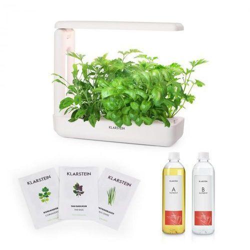 Klarstein growit cuisine zestaw startowy i 10 roślin oświetlenie led 25 w nasiona roślin azjatyckich pożywka płynna (4060656149504)