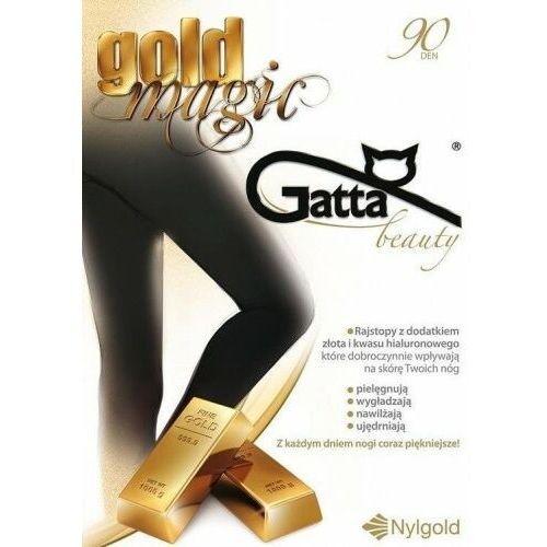 Rajstopy z dodatkiem złota i kwasu hialuronowego gold magic 90 den marki Gatta