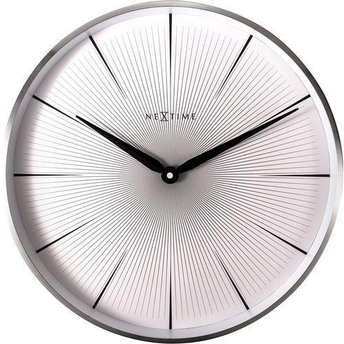 Nextime Zegar ścienny 2 seconds, biała tarcza 40 cm (3511 wi)